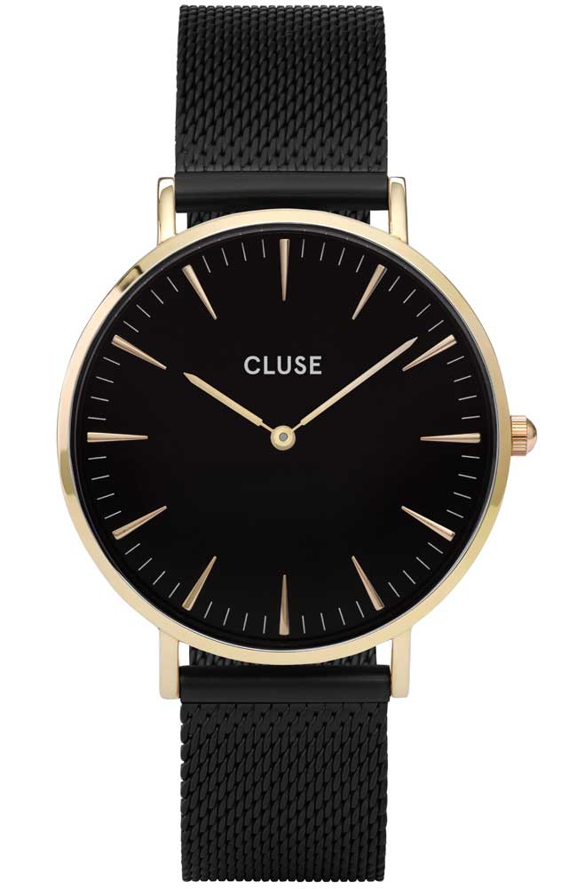 CLUSE La Bohème Mesh Rose Gold Black CL18117