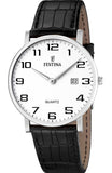 FESTINA Classic Mens Black Leather Strap F16476/1