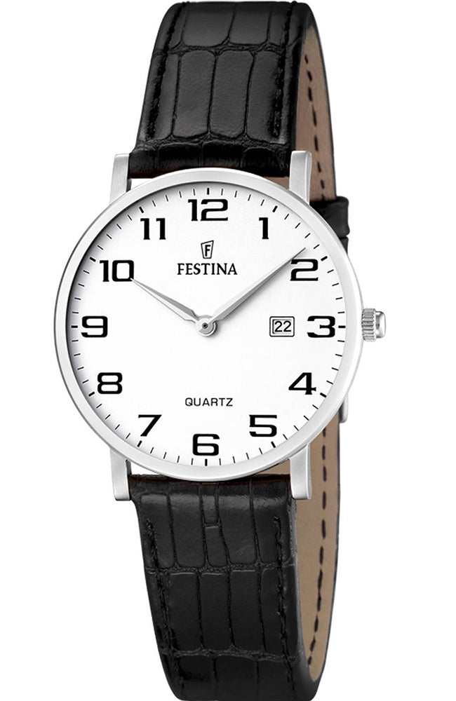 FESTINA Classic Ladies Black Leather Strap F16477/1
