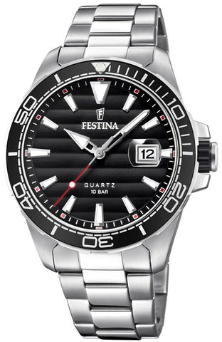 FESTINA Automatic Silver Stainless Steel Bracelet F20478/6