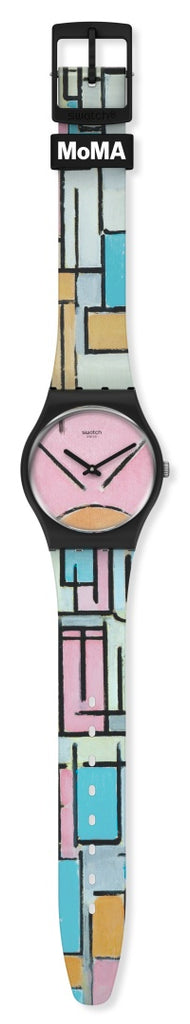 SWATCH COMPOSITION IN OVAL WITH COLOR PLANES 1 GZ350