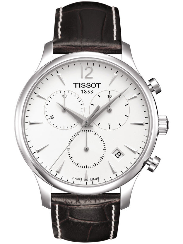 TISSOT TRADITION CHRONOGRAPH Brown Leather Strap T0636171603700
