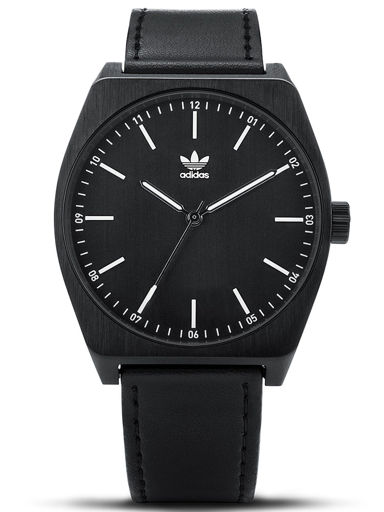 ADIDAS Process L1 Black Leather Strap Z05-756-00