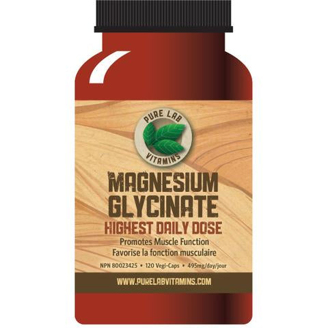 Pure Labs- Magnesium Glycinate -120 caplets