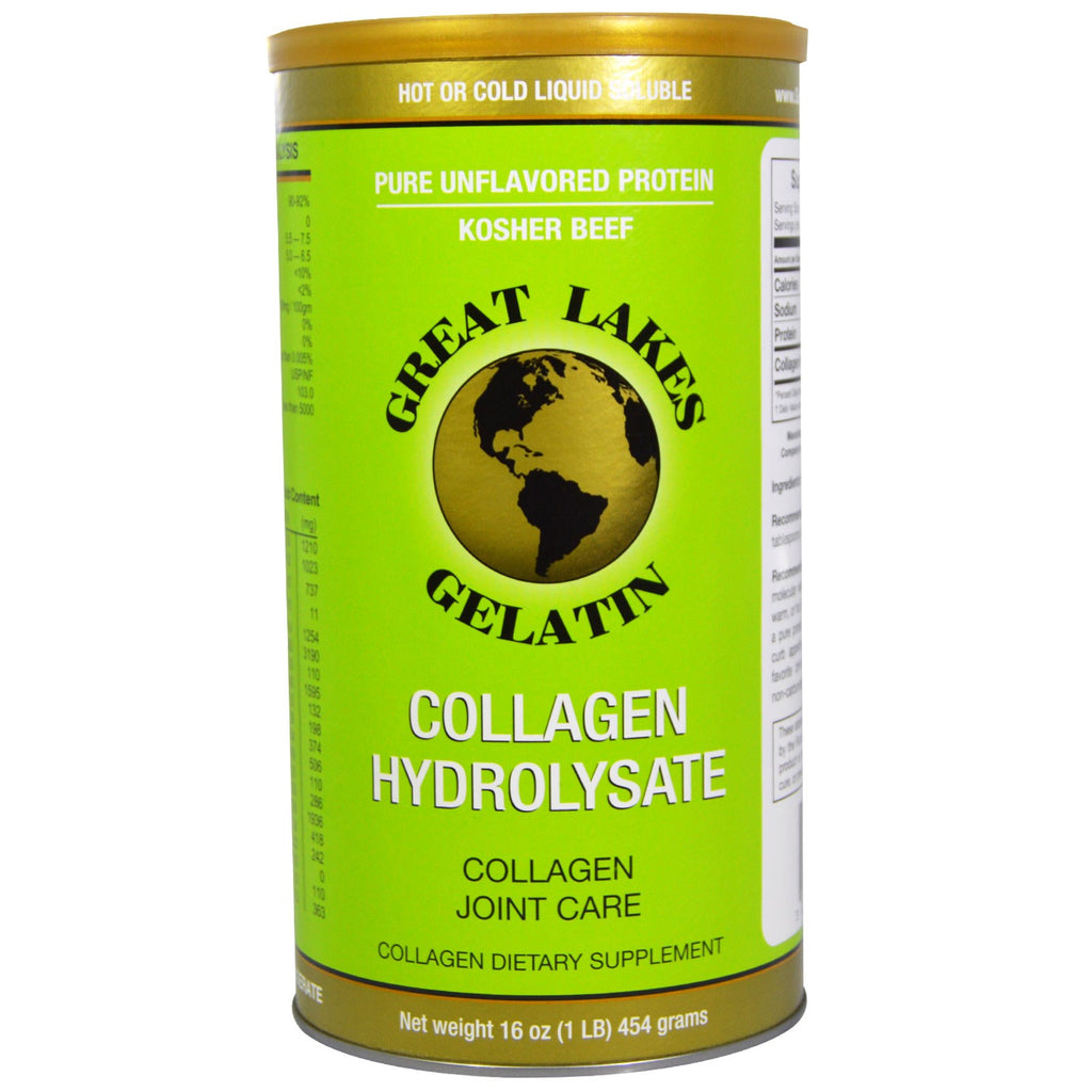 Great Lakes Collagen Hydrolysate Protein- 16 oz