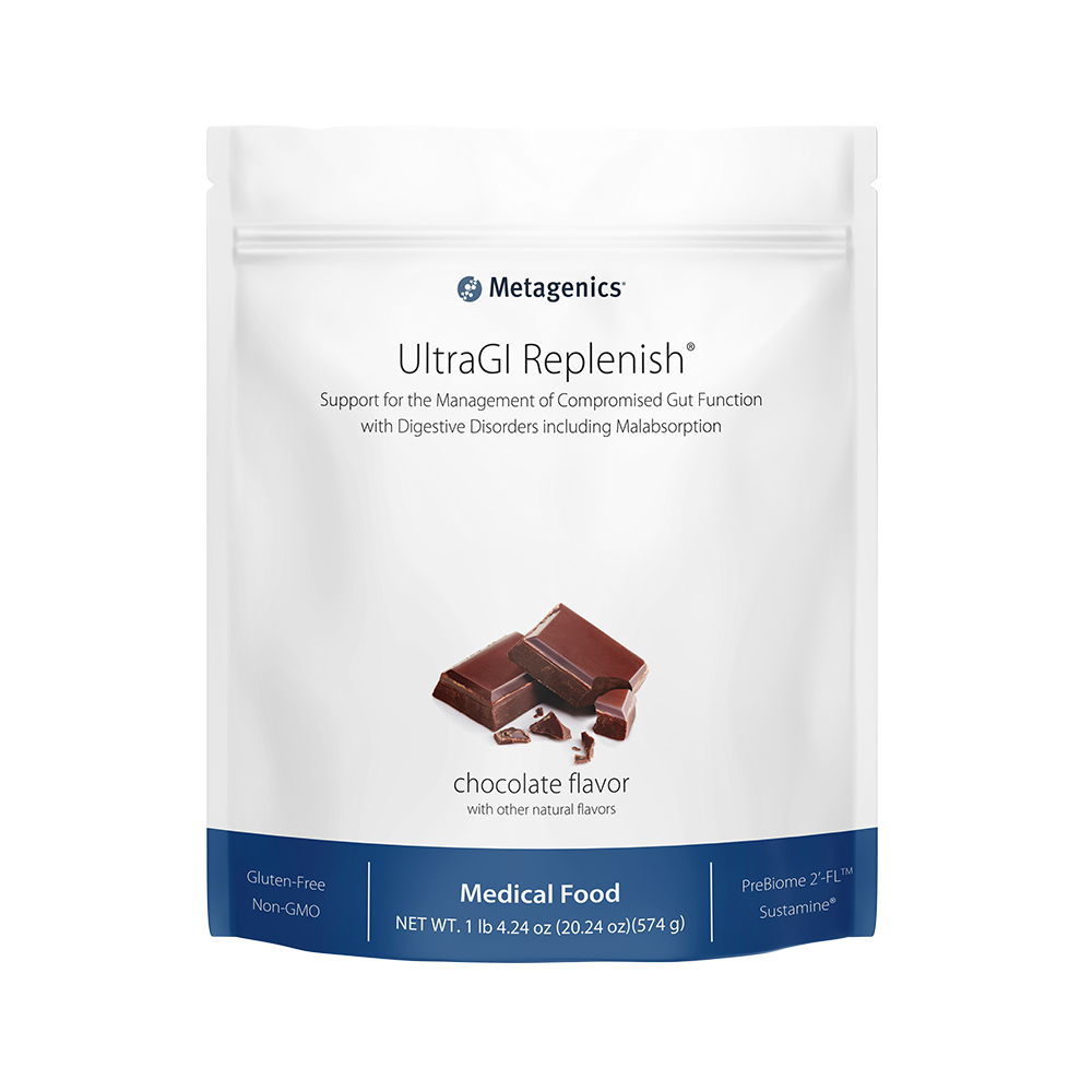Metagenics Ultra GI Replenish Chocolate OR Vanilla-Medical Food- 14 servings (424 ounces)