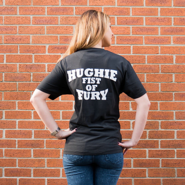 HFTEE2B - Black Hughie Fury T-Shirt with TF logo