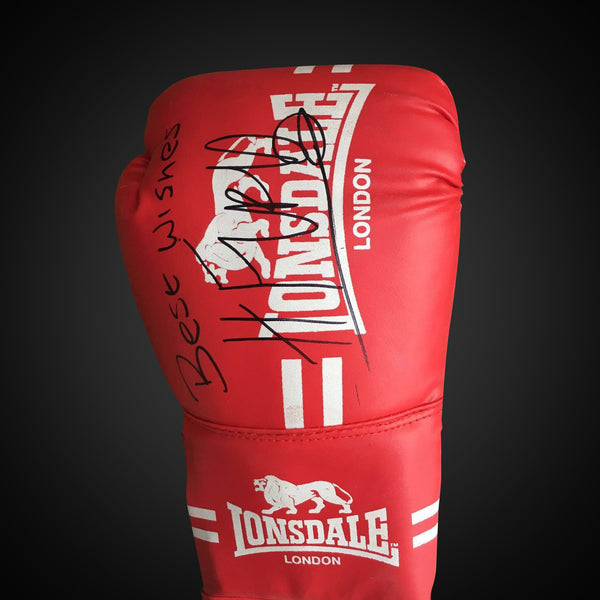 Single Boxing Glove - Signed by Hughie Fury