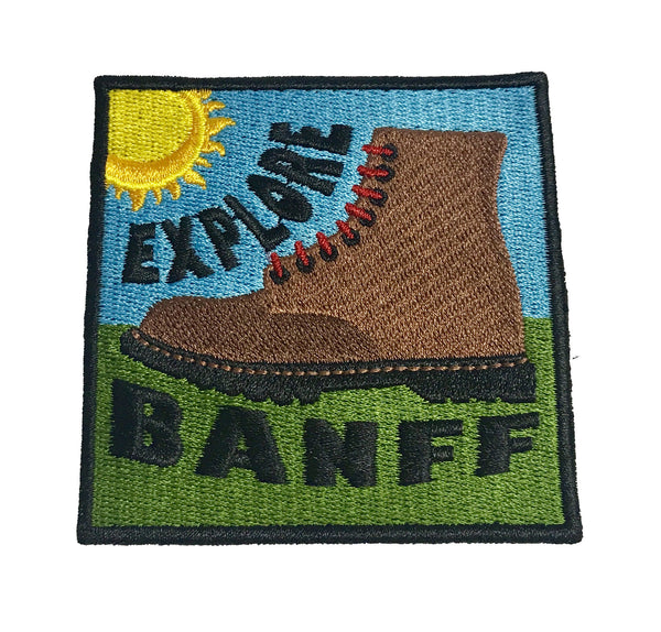 Explore Banff - Happy Hiker Patch - Explore Banff