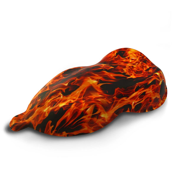 Orange Flames Hydrographic Film
