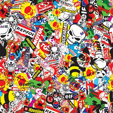 Racing Sticker Bomb Hydrographic Film