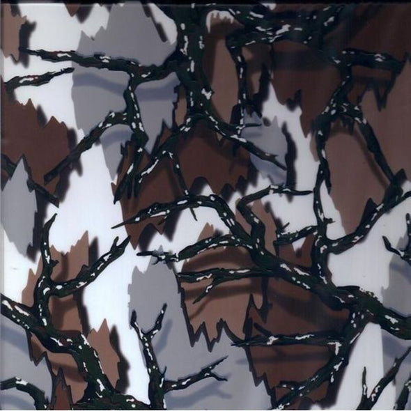 White and Brown Camo Hydrographic Film