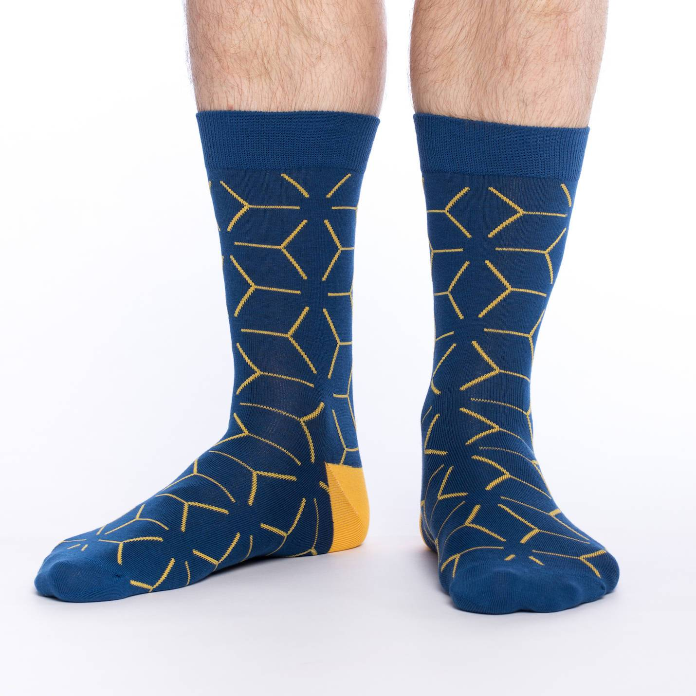 Blue Matrix Crew Socks