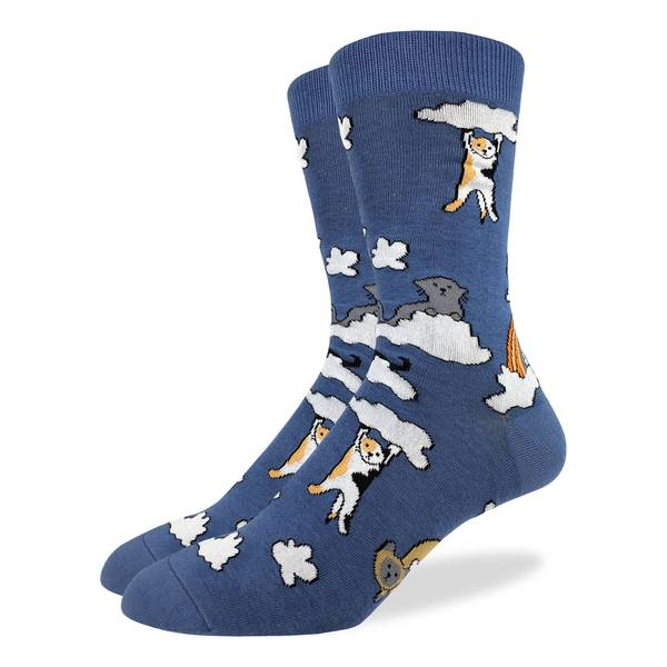Cloud Cats Crew Socks