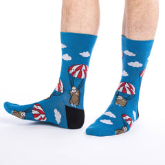 Parachuting Sloths Crew Socks