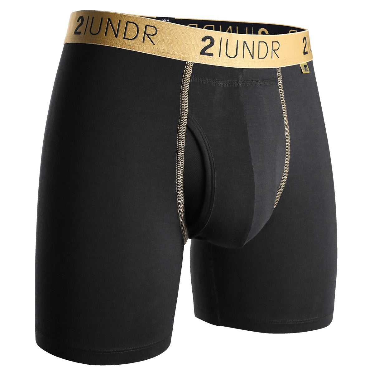 "Swing Shift 6"" Boxer Brief - Black & Gold"