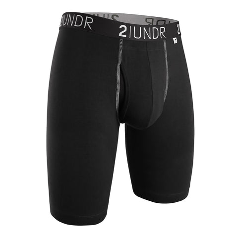 "Swing Shift 9"" Boxer Brief - Black/Grey"