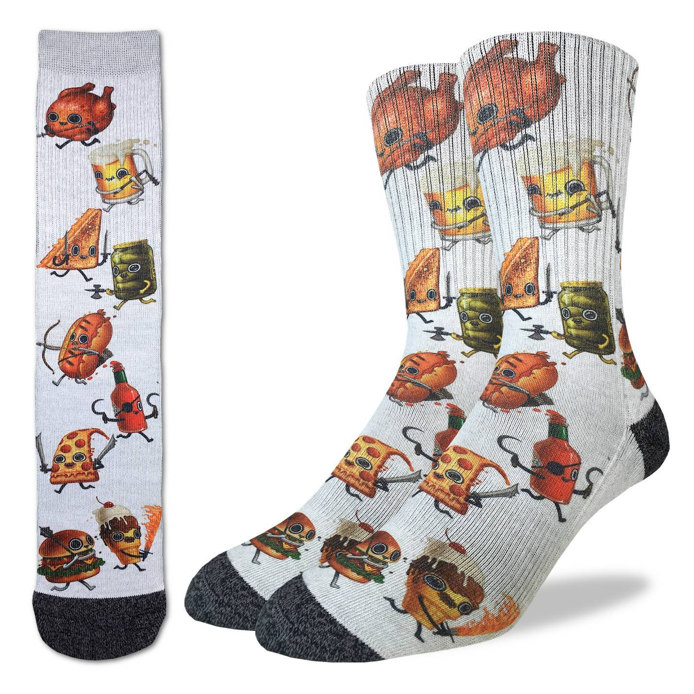 Food Fight Active Fit Socks