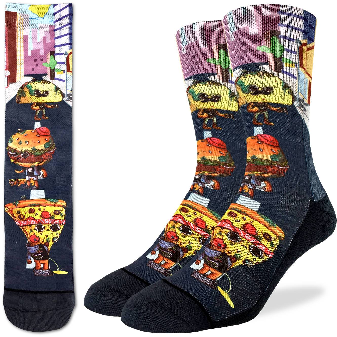 Pizza Burger Taco Socks