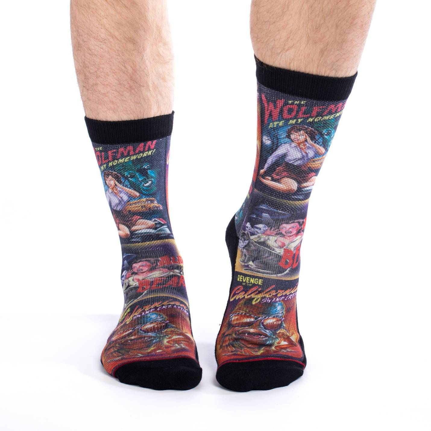 B Movie Poster Socks