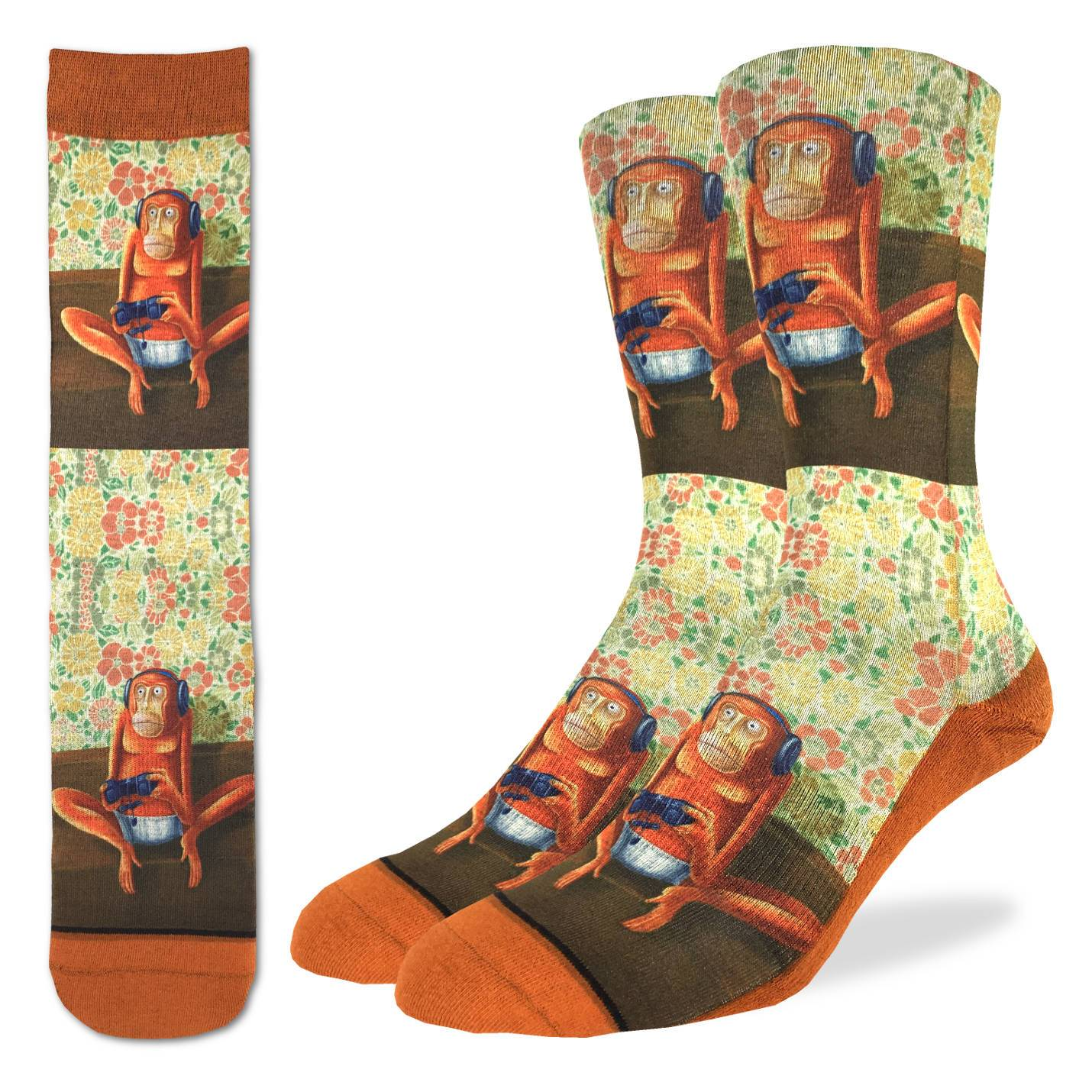 Video Game Monkey Socks