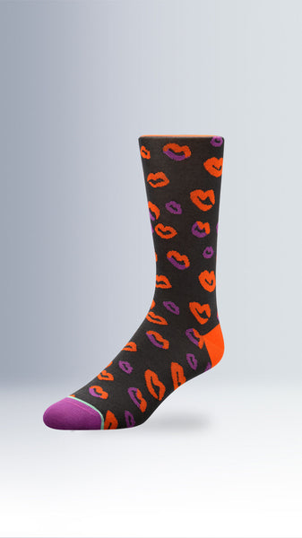 Hot Lips Chocolate Kisses Dress Socks