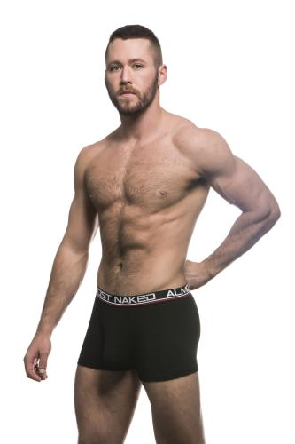 Almost Naked Black Tagless Premium Boxer