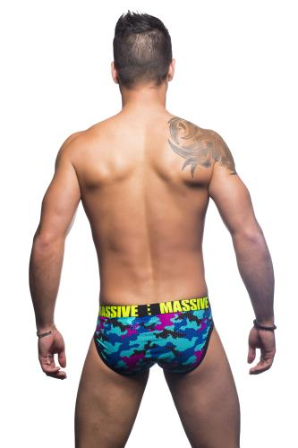 Massive City Camouflage Mesh Brief
