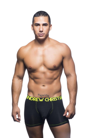 Almost Naked Tagless Premium Bamboo Boxer - Black