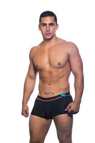 Show-It Sports & Workout Boxer with Mesh Panels Black