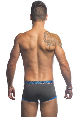 Andrew Christian Fly Tagless Boxer - Charcoal