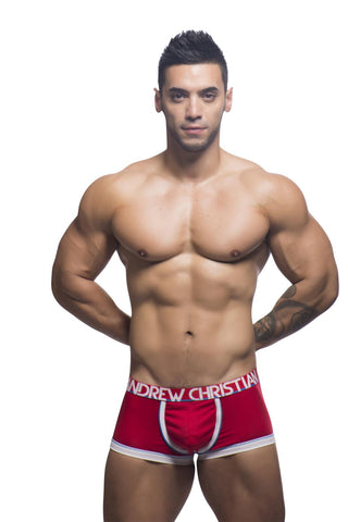 Andrew Christian Red Coolflex Boxer