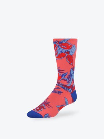 Enchanted Garden Mid-Calf Socks Coral