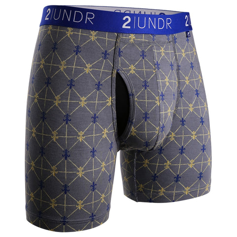 "Swing Shift 6"" Boxer Brief Grey Poupon"