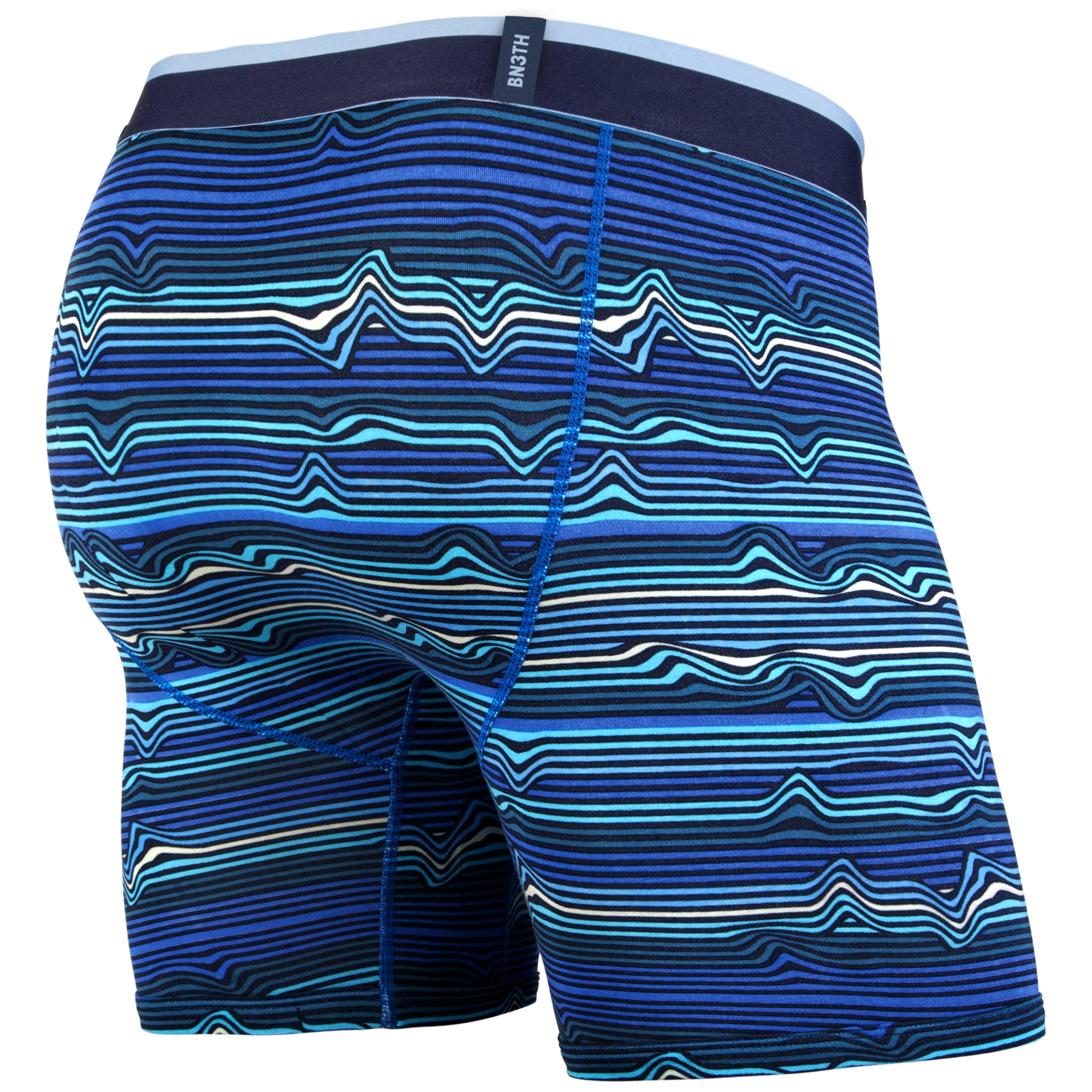 Classic Boxer Brief - Warp Stripe Blue