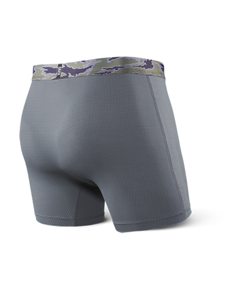 Saxx Quest 2.0 Boxer With Fly Charcoal Camo