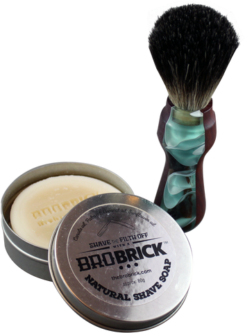 Bro Brick  Unscented Shave Brick