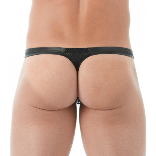 Player Leather Thong Black