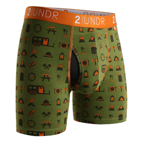 "Swing Shift 6"" Boxer Brief - Campers"