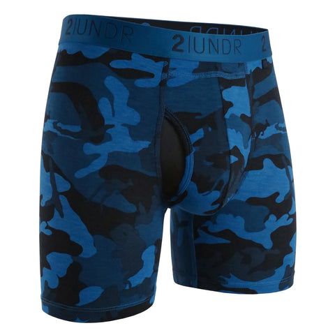 "2Undr Swing Shift 6"" Boxer Brief Blue Camo"
