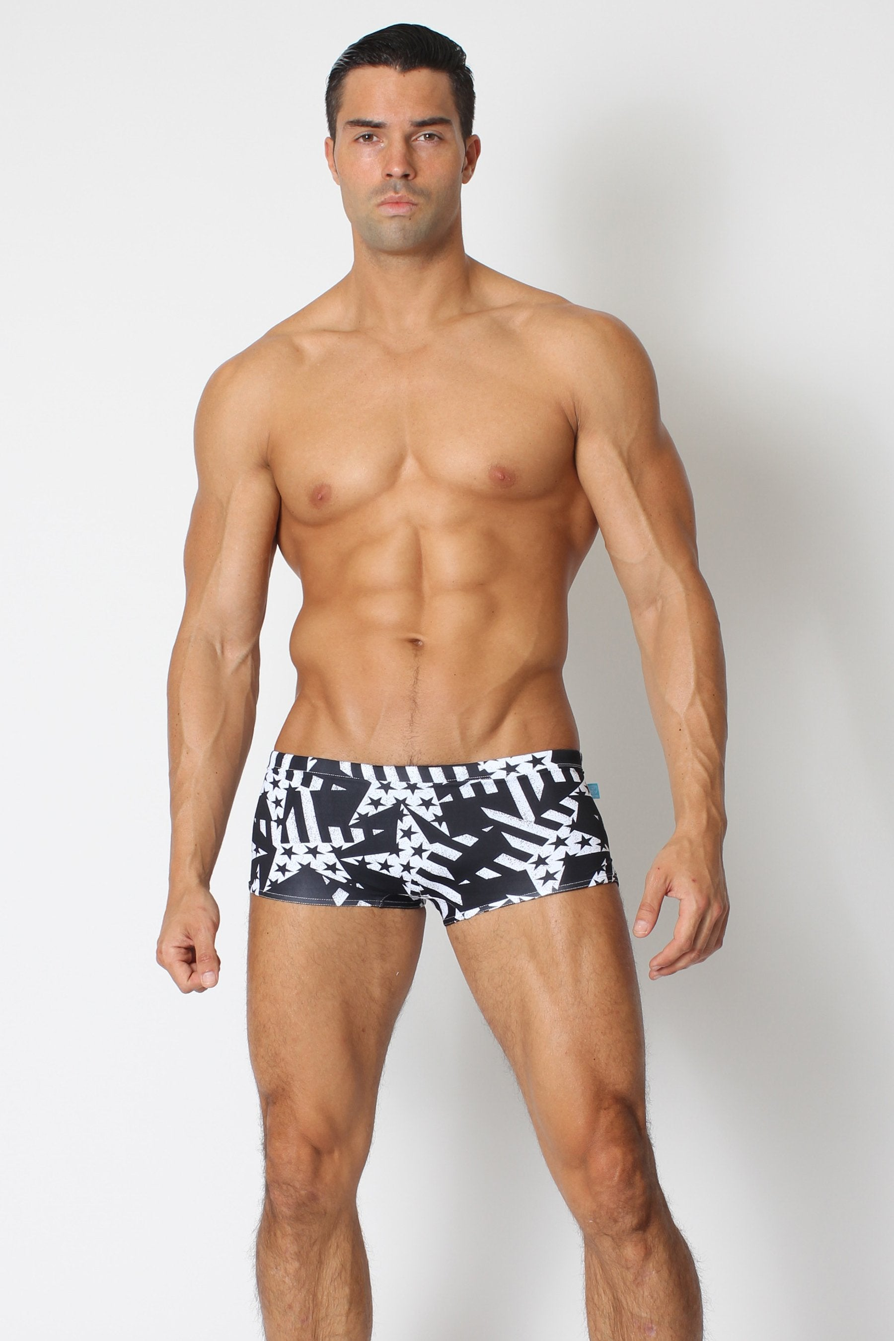 Stars and Stripes Mens Swim Trunks