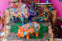 Talavera pigs and pots