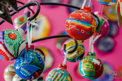 Talavera christmas tree ornaments