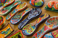 talavera Spoon shaped spoon holders Mexican artesanias