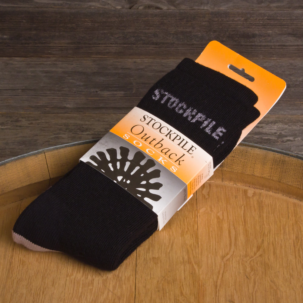 STOCKPILE Outback Boot Socks, Black