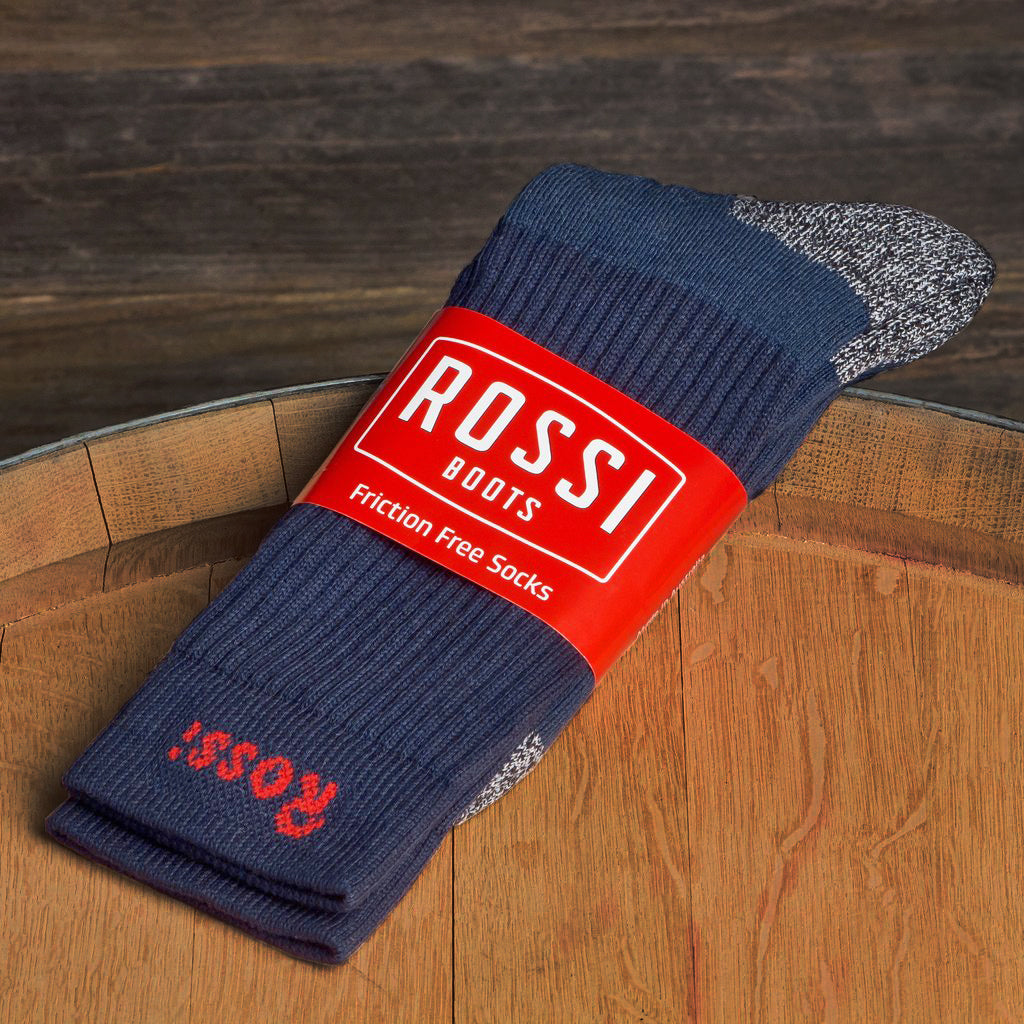 ROSSI Friction Free Socks, Navy