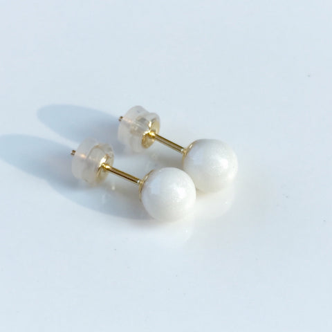 """Melody"" Pearl 14k Gold Earrings"