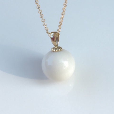 """Marguerite"" Pearl with 14k Solid Gold"