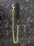 Gold Cuban Link Single Dog Leash