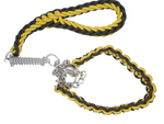 BLACK & YELLOW SHORT LEAD AND COLLAR COMBO